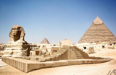 Giza esfinge-Piramide