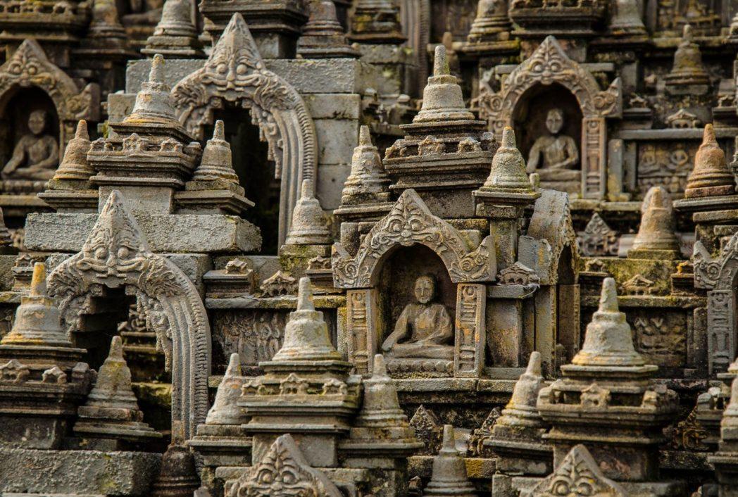Detalle en el templo Borobudur