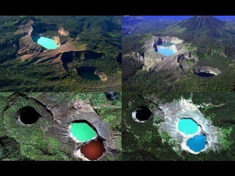 El Volcán Kelimutu