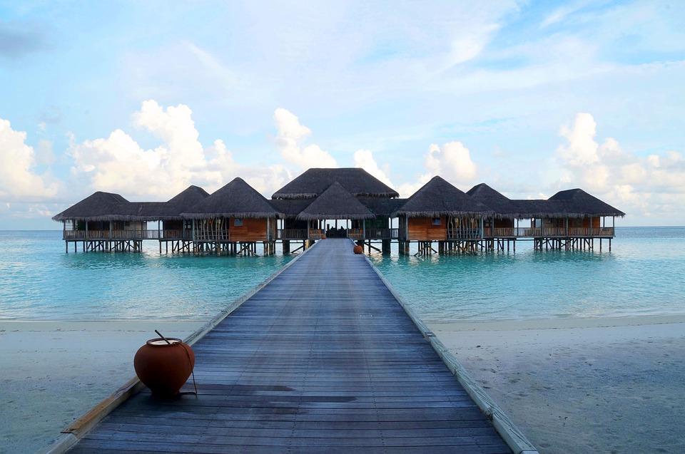 Las villas sobre el agua las Maldivias