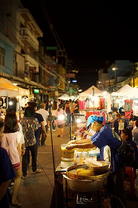 Mercado Nocturno, Chiang Rai