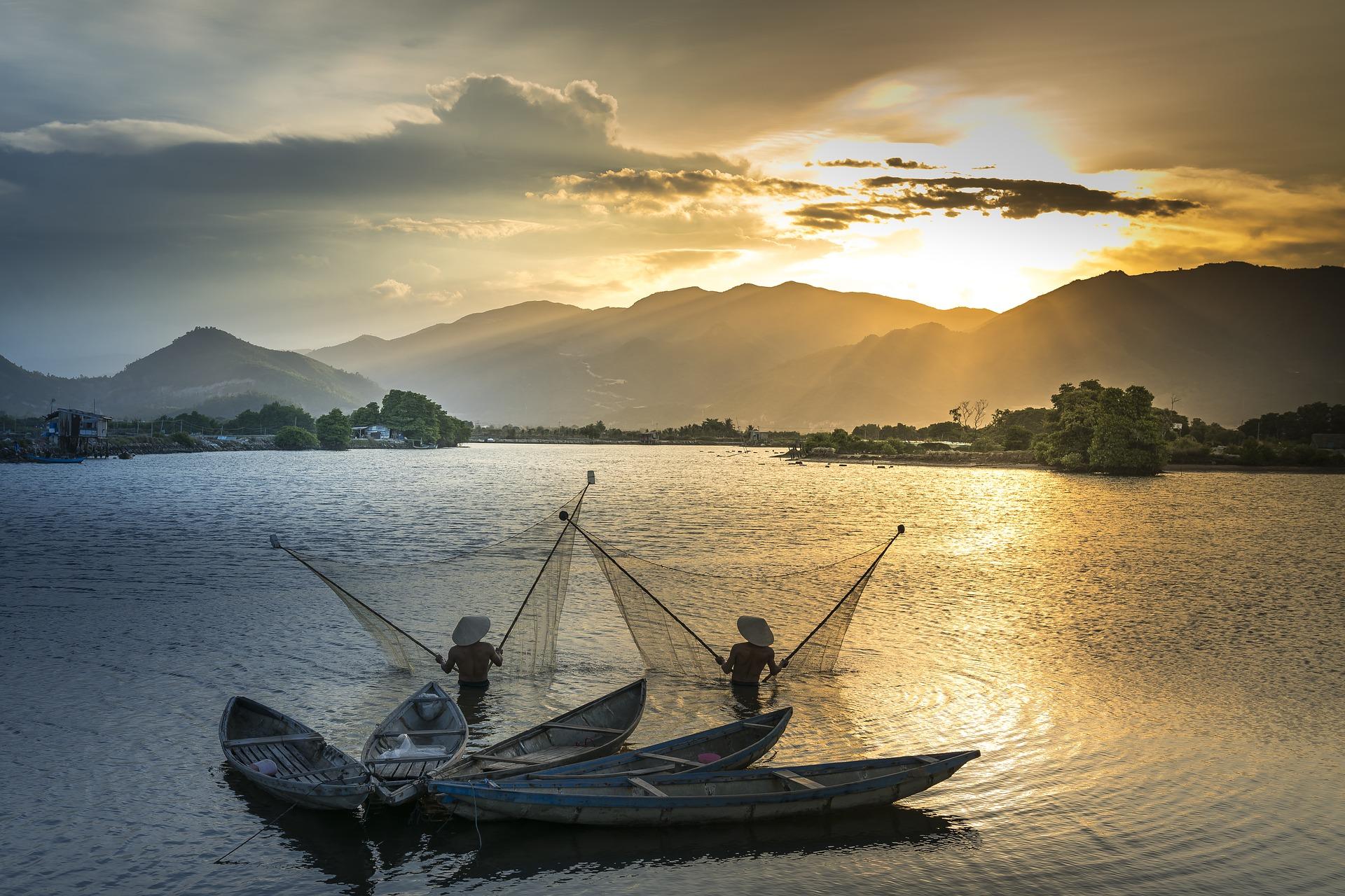 Paisajes a lo largo del río Mekong y Nong Khai