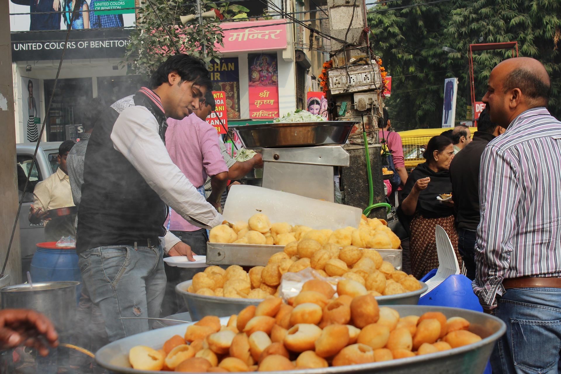 Chaat, propia comida callejera